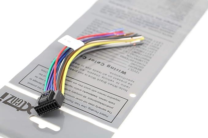 Xtenzi Car Radio Wire Harness Compatible with Jensen CD DVD Navigation on jensen vm9212n wiring harness, jvc car stereo wiring harness, phase linear uv8020 wiring harness,