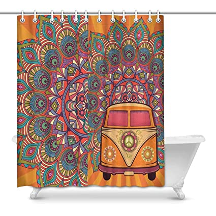 Image Unavailable Not Available For Color INTERESTPRINT Ethnic Tribal Print Bathroom Shower Curtain