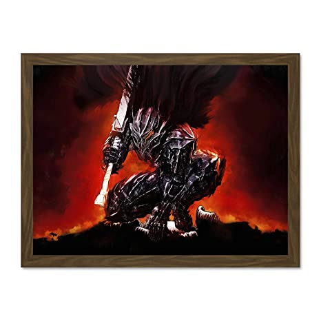 Manga Anime Berserk Guts Armour Armor Sword Canvas Art Print