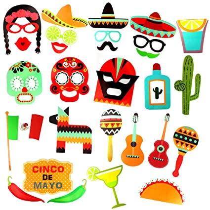 amazon com mexican party supplies cool photo booth props diy kit