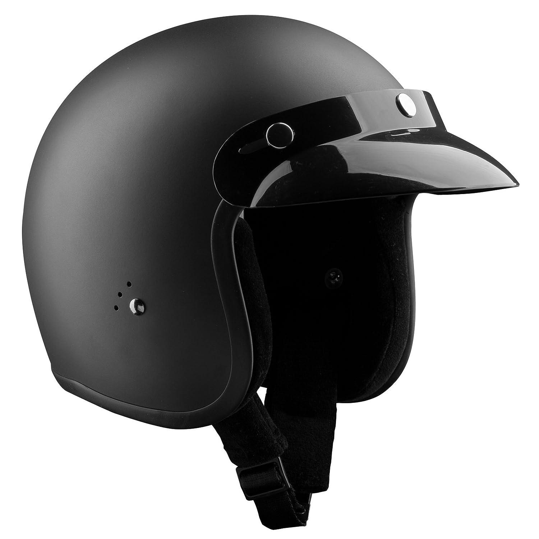 Matte Black Motorcycle Helmet Bandit Jet Helmet