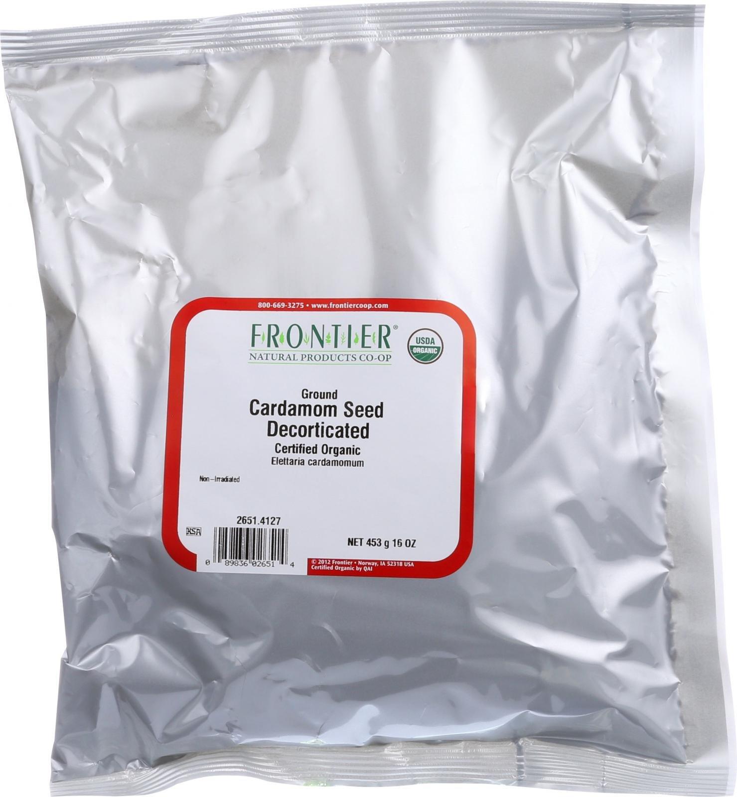 Frontier Herb Cardamom Seed - Organic - Powder - No Pods - Bulk - 1 lb