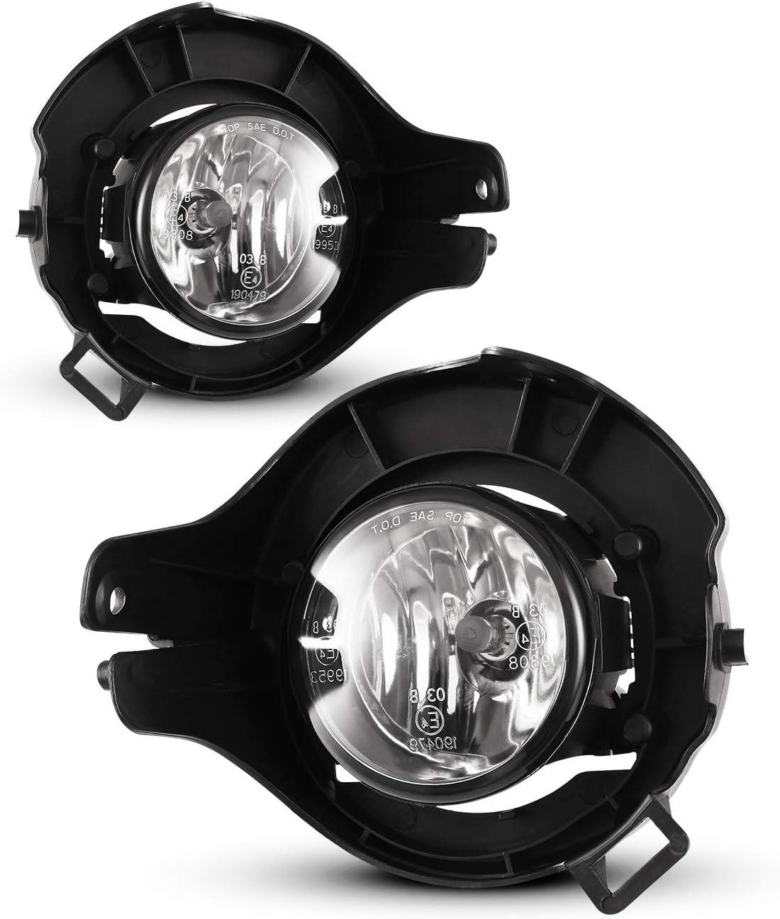 MOTORCYCLE SPOT FOG LIGHTS 1 PAIR BLACK BODY GLASS LENS BULBS 12v 55w