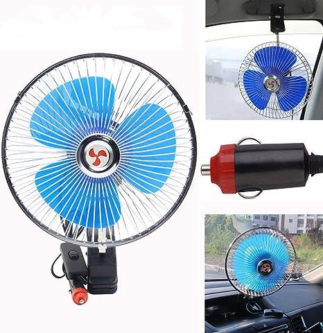 OneMoreT Ventilador de coche oscilante de refrigeración de 8 ...