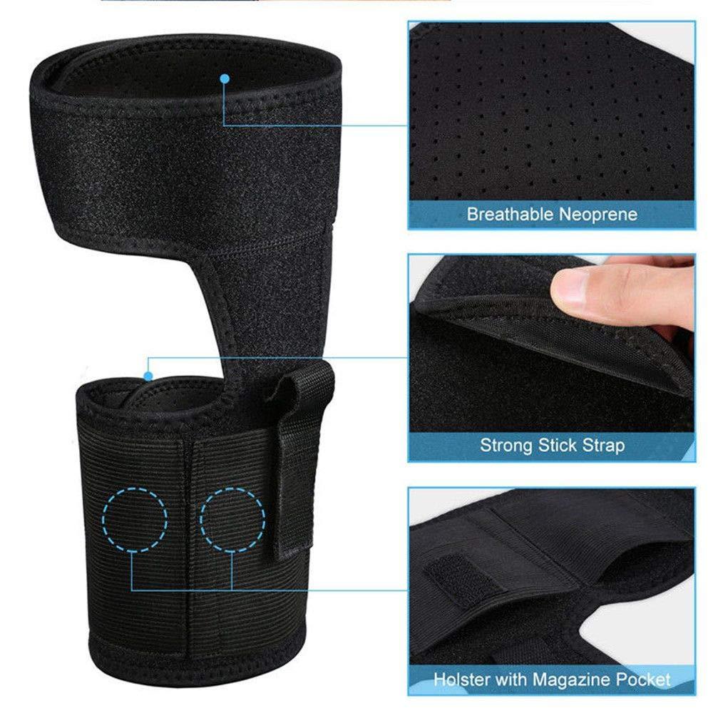 Concealed Ankle Leg Holster Magazine Pouch bag Hidden Pistol Hangun Gun Carry by genenic (Image #2)