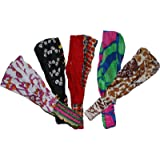 Wevez® Women's Pack of 5 Stretchable Printed Head Bands, One Size, Assorted