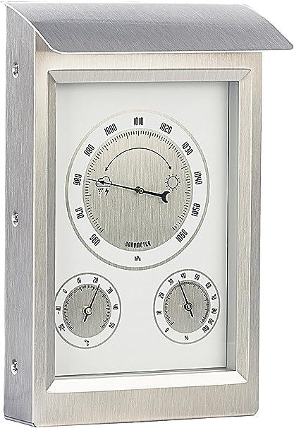 Infactory Wetterstation Analog Außenwetterstation Mit Hygro Und Barometeranzeige Thermometer Analog Garten