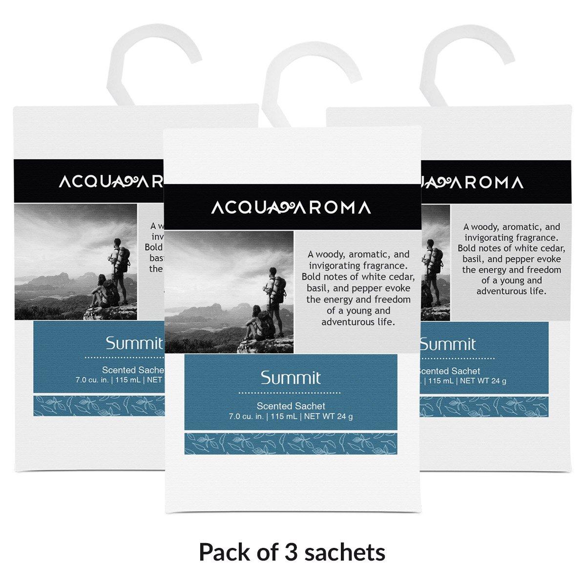 Acquaアロマサミット香りつきSachet 7.0 cu. in 115ml 24g of 公式ショップ B01M3Q27NM Sachets Pack 激安価格と即納で通信販売 ndash; 3