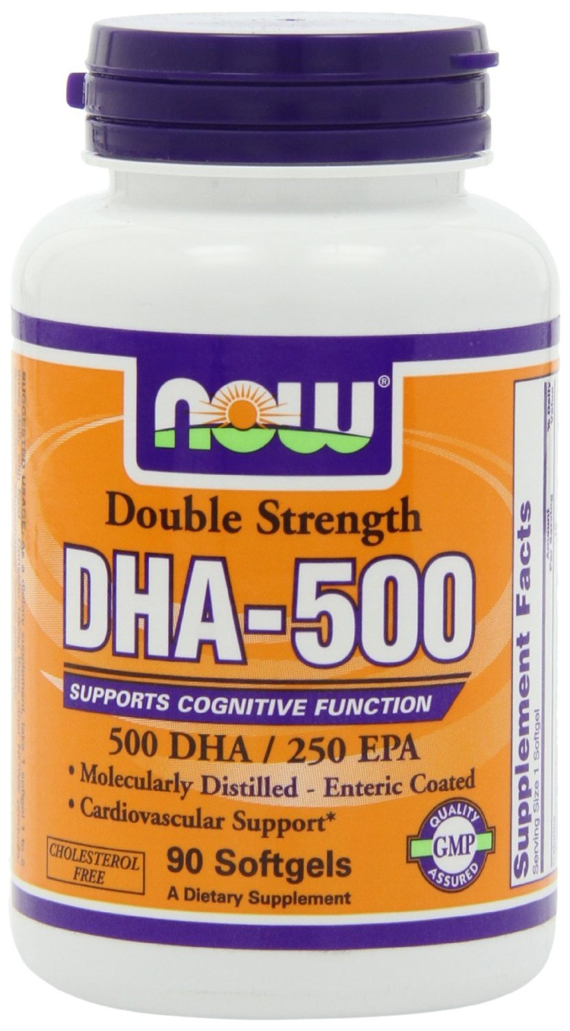 DHA-500, 90 Softgels by Now Foods (Pack of 6)
