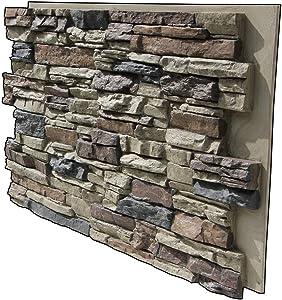 Tritan BP LR-4824-NST Lightning Ridge Faux Stone Siding Panel, Nature Spirit