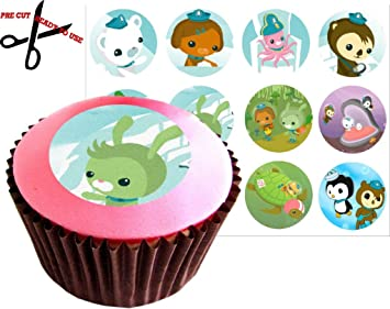 12 OCTONAUTS 38mm 15 Inch PRECUT Cake Toppers Edible Rice Paper