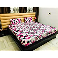 Reliable Cotton Trends Fitted Bedsheets (Purple, 250 x 250 cm)