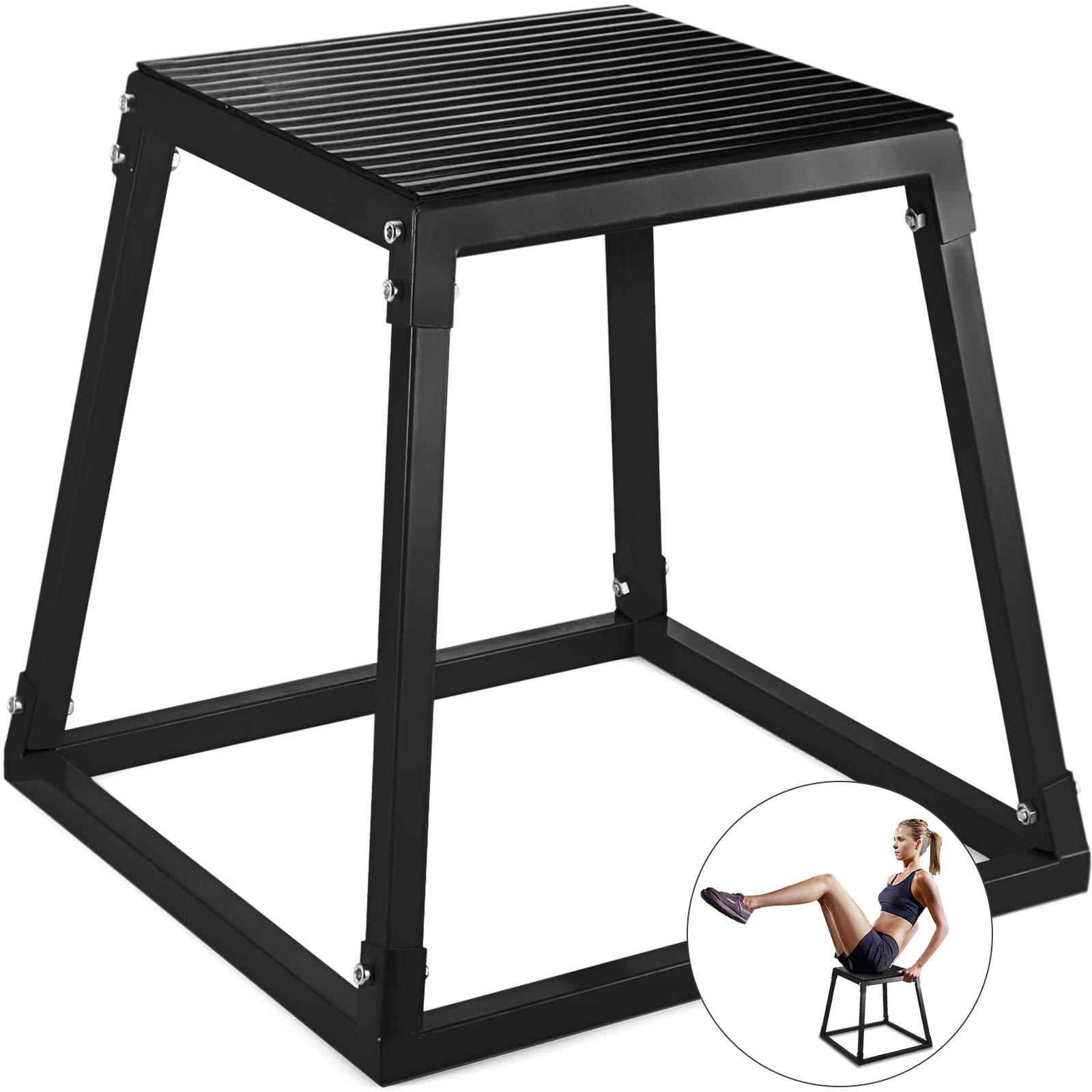VEVOR Jumping Box 30¡± Platform Jump Box Exercise Plyometric Jump Boxes for Jump Training(30'',Black)