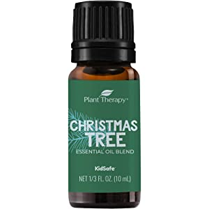 Plant Therapy Essential Oils Christmas Tree Holiday Blend 100% Pure, Undiluted, Natural, Therapeutic Grade 10 mL (1/3 oz)