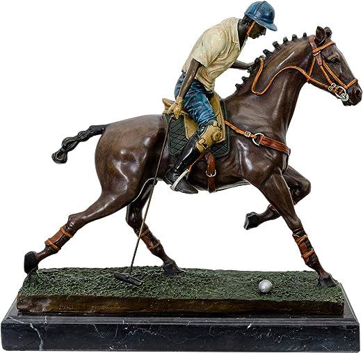 Bronze Pferd Bronzeskulptur Figur Araber Skulptur Antik-Stil Indianer