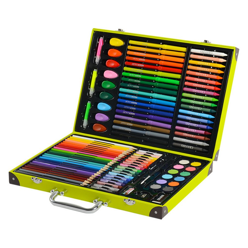 JIANGXIUQIN Artist Art Drawing Set, 118 Artworks, Crafts, Teachers, Amateurs, Professionals and Beginners of Various Art Supplies, School Supplies Gifts for Children and Children.