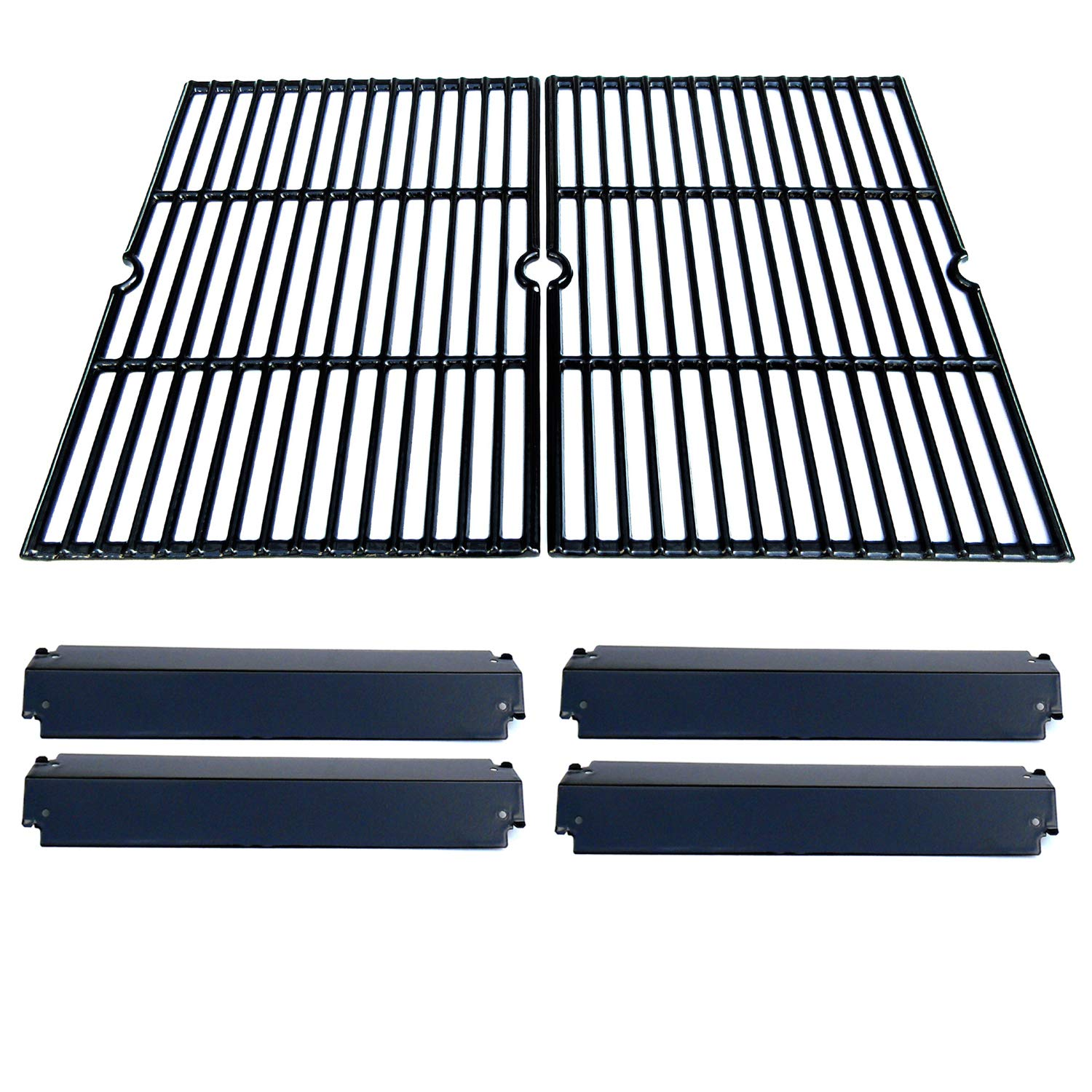 Direct Store Parts Kit DG232 Replacement Charbroil, Kenmore, Coleman,Gas Grill Repair Kit Heat Plates & Cooking Grill (Porcelain Steel Heat Plate + Porcelain Cast Iron Cooking Grid) by Direct Store