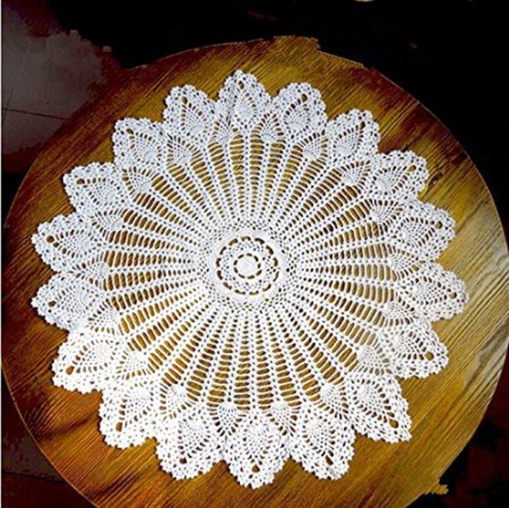 guchina hansenne estilo Pequeño y redondo mantel hecho a mano ...