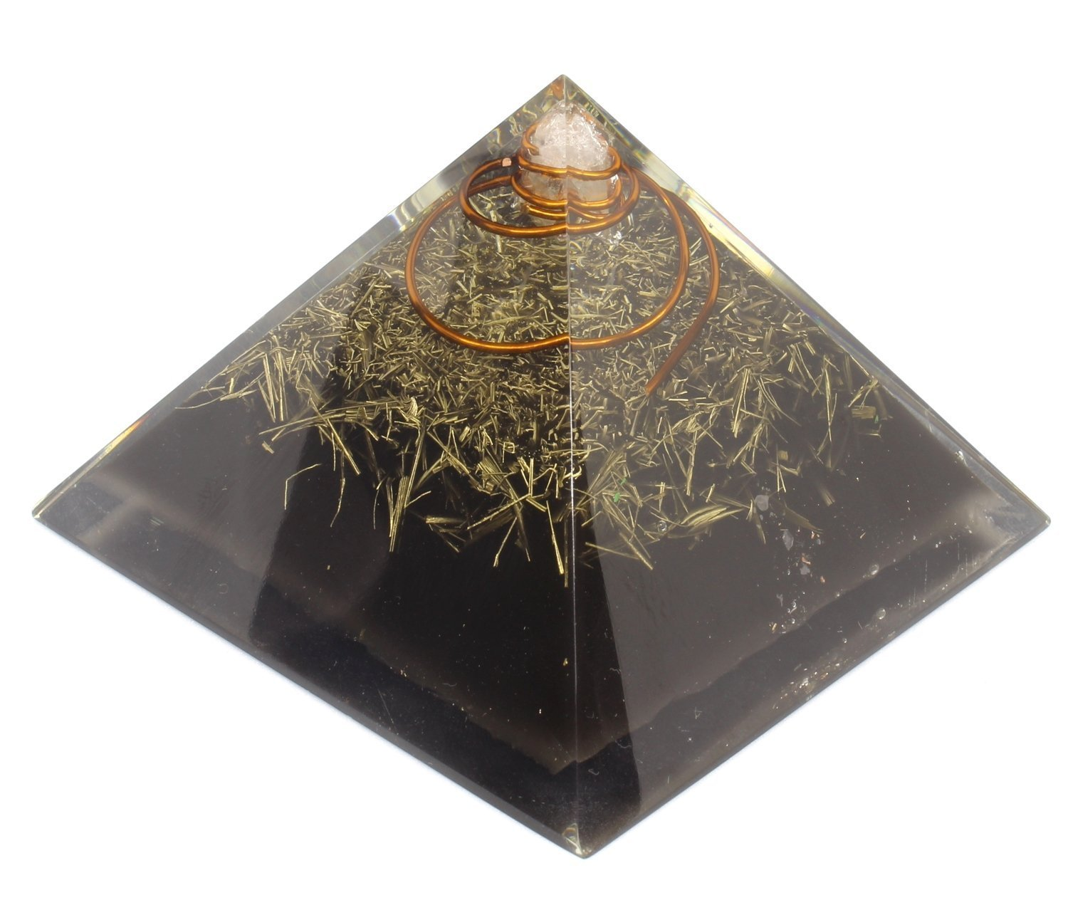 Orgone Pyramid crystal for Energy generator & Emf protection - Healing - meditation chakra