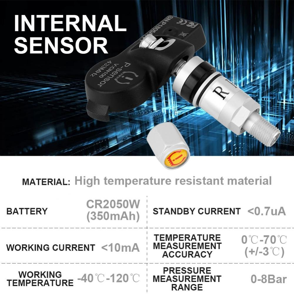 Car USB TPMS Internal Cap Sensors, Keenso USB Tire Internal Sensors Replacement for Android Car Navigation Display by Keenso (Image #8)