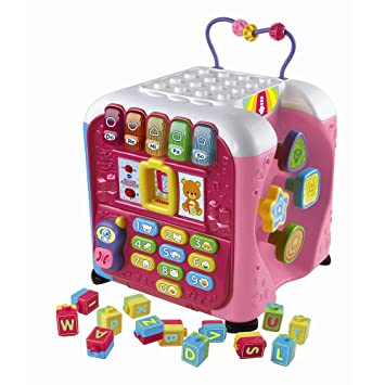 Amazon.com: Vtech Alphabet Activity Cube Toy - Pink: Toys & Games