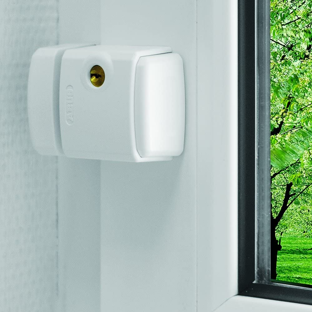 Abus FTS 3003 W - Cerrojo de presión con soporte para ventana o puerta corredera blanco: Amazon.es: Bricolaje y herramientas