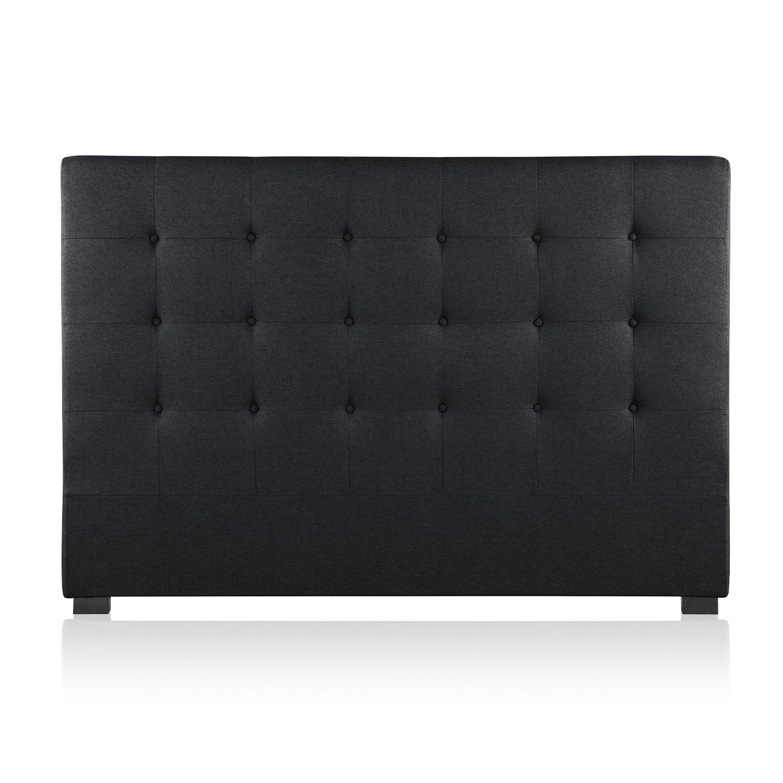 INTENSEDECO T/ête de lit capitonn/ée Premium Tissu 160cm Noir