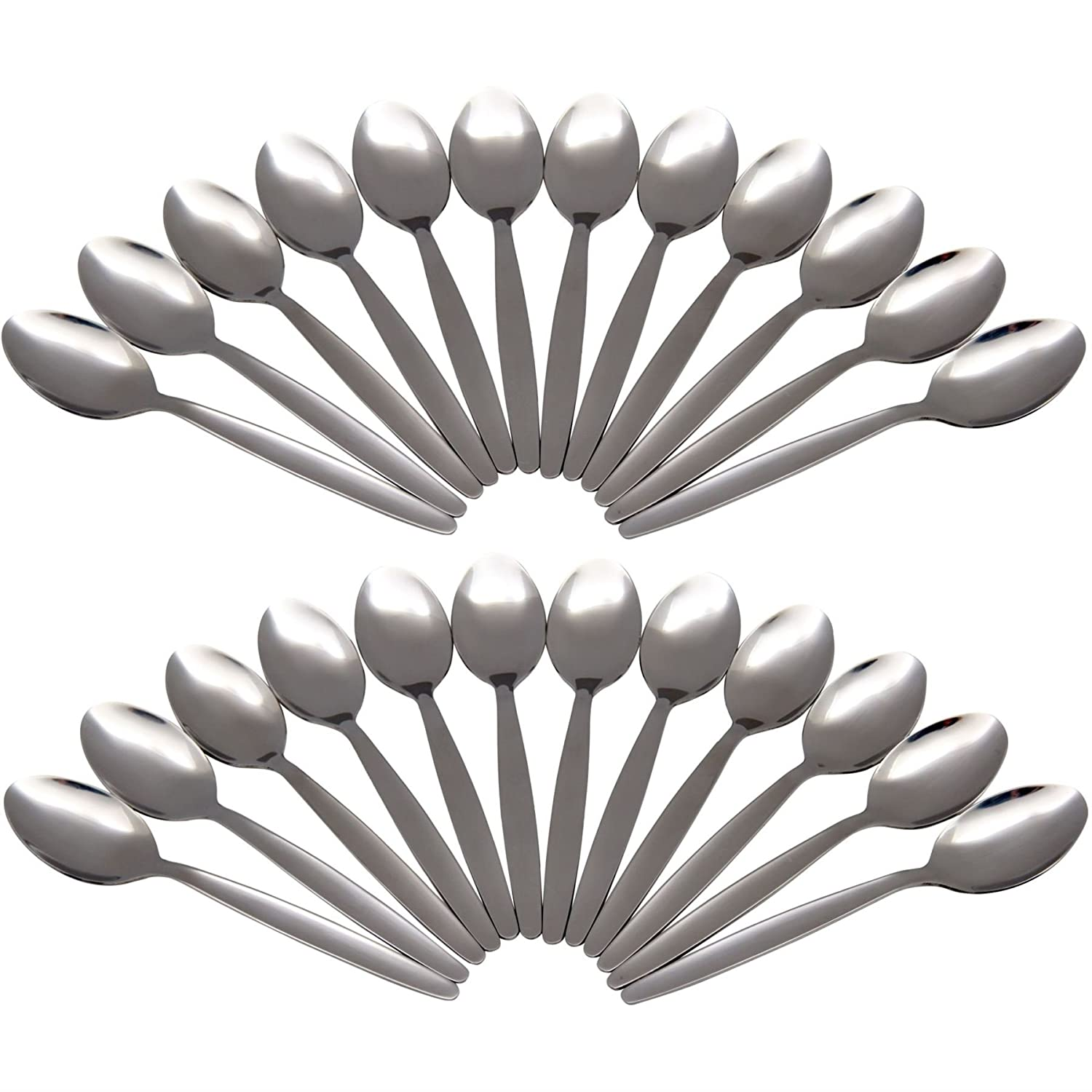 Argon Tableware Set Of 24 Stainless Steel Teaspoons