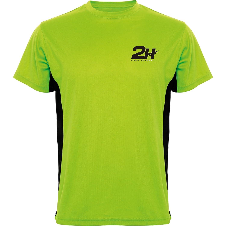 Camiseta técnica de pádel 2H Green Tournament, S: Amazon.es ...