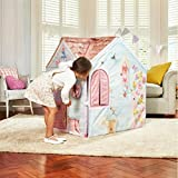 The DreamTown Rose Petal Indoor Cottage Playhouse Tent for Toddlers
