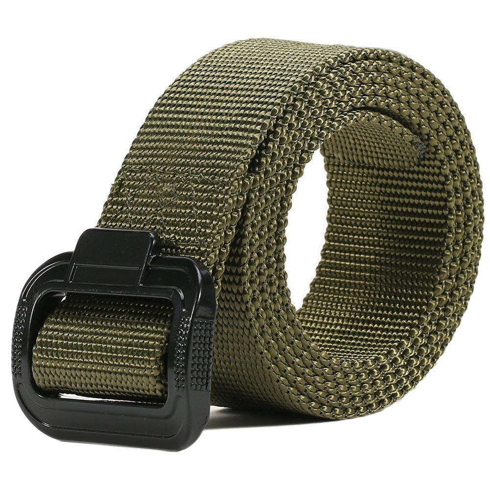 Thickyuan Men's Tactical Belt Heavy Duty Webbing Belt Adjustable Military Style Nylon Belts with Metal Buckle|MOLLE Tactical CQB Rigger|multiple choices by Thickyuan (Image #3)