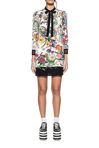 Gucci Vestito Donna 453014Zip589361 Seta Multicolor  Amazon.it   Abbigliamento 4002319d4492