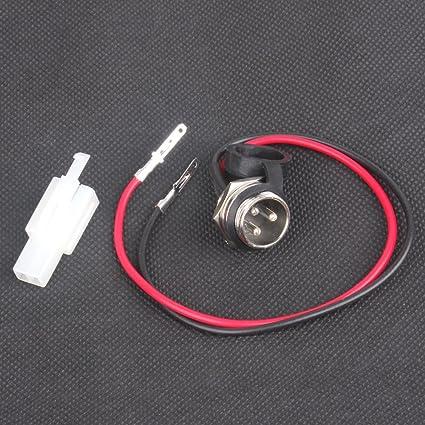 Moto Reparación de inicio y enchufe de carga con cable y plegable tapa enchufe