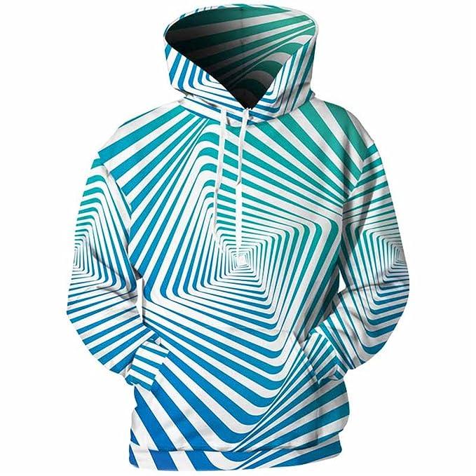Sudaderas Hombres Rayas 3D 3D Full Imprimir Novedad Simple Streetwear Hoody Sudaderas Primavera Casual Tops Plus Size XL 5XL 01: Amazon.es: Ropa y ...