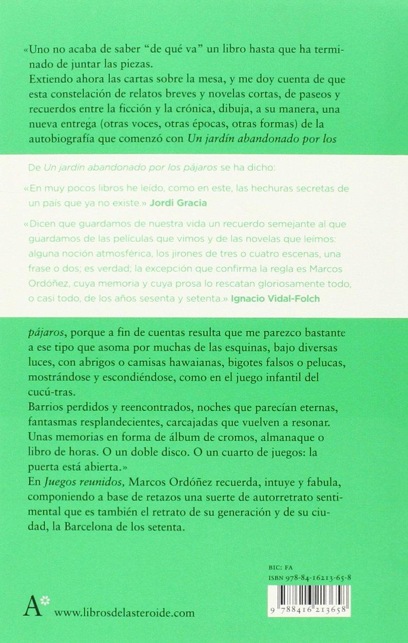Juegos reunidos (Spanish Edition): Marcos Ordóñez: 9788416213658: Amazon.com: Books