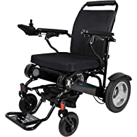 EBEI Foldable Motorized Wheelchair Electric Power Wheelchair - Lightweight and Durable - Weighs only 58 lbs with Battery - Supports 400 lb (Black)