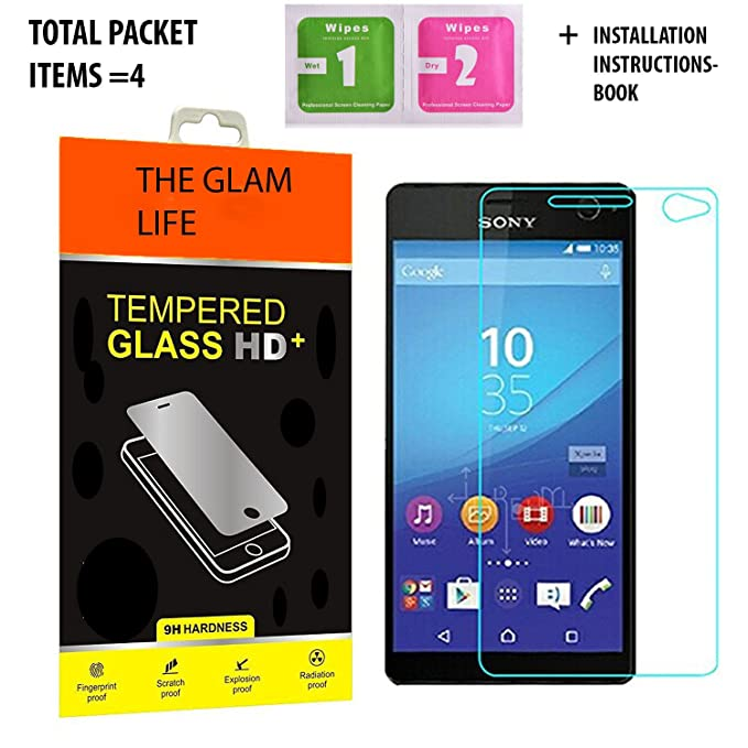 The Glam Life Curved Premium Tempered Glass Screen Protector for Sony Xperia C4  Original  Screen guards