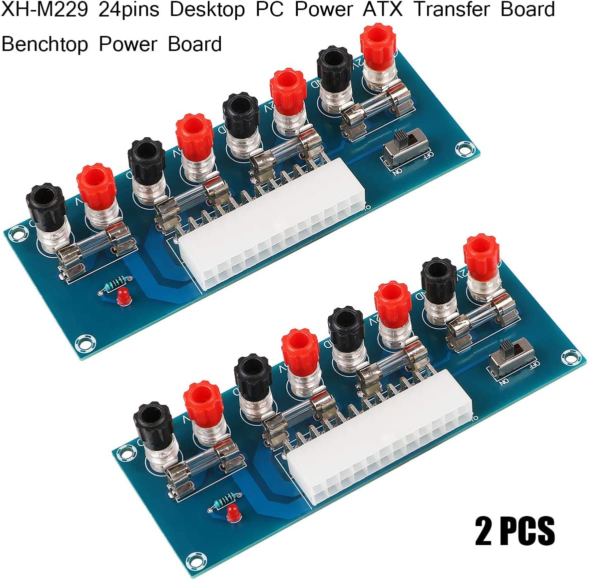 24Pins ATX Benchtop Power Socket Computer PC Power Supply Board Breakout Adapter
