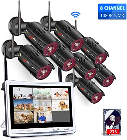 ANRAN 2.0MP Security Camera System Wireless 15