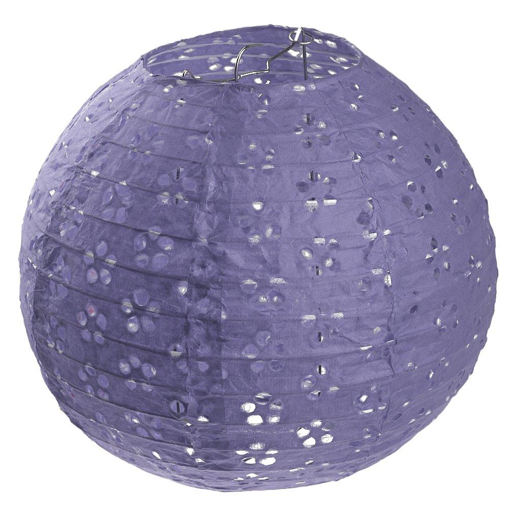 Prettyia Papierlaterne Papier Laterne Lampion rund Lampenschirm Papierlampen Hochtzeit Party Dekoration Ballform - Grü n, 8 Zoll