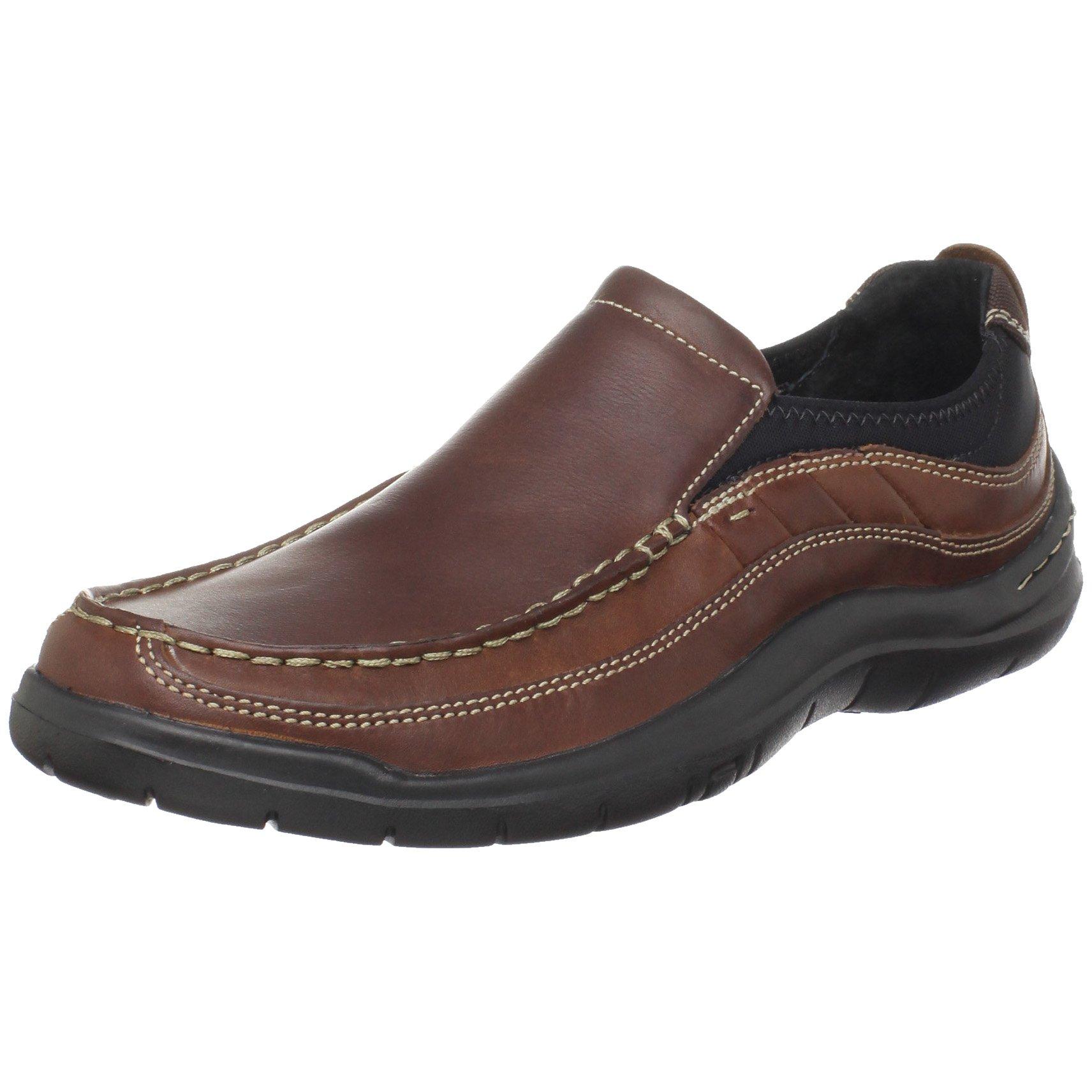 Clarks Men's Axl Moc Toe Slip-On,Brown,7 M US
