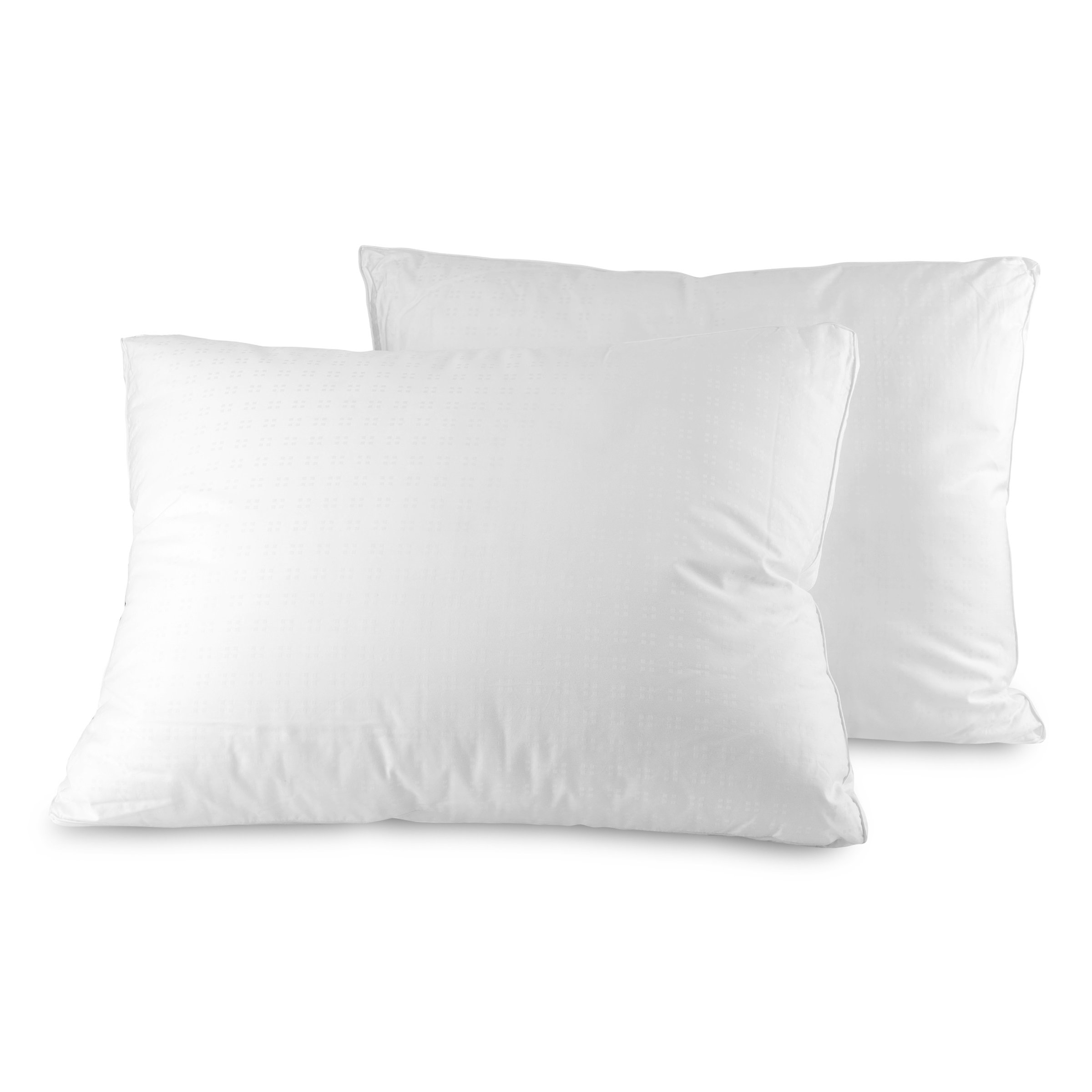 Down Alternative Pillows Cotton Cover Super Plush Microfiber Fill Hypoallergenic & Allergy Safe Bed Pillows (2 Pack) Soft and Breathable Sleeping Pillows King Size (20x36x1.5)