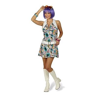 Elbenwald Robe Disco - Sexy Disfraz años 70 - Mujer Multicolor 36 ...
