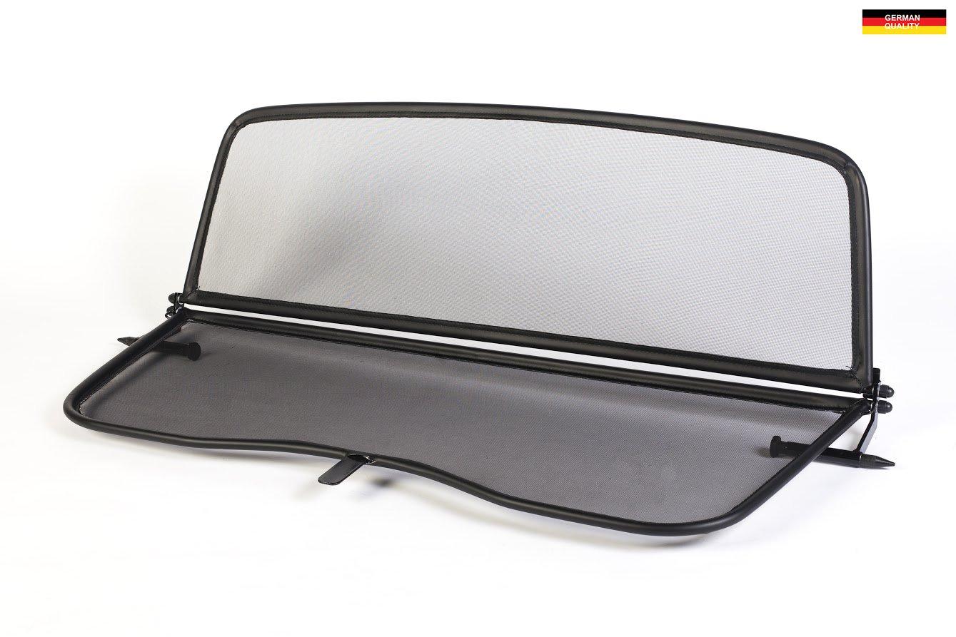 Dé flecteur de vent pliable avec fermeture rapide - noir pour Volkswagen New Beetle Dé capotable 2003-2012 | Filet Anti-Remous Coupe | Dé flecteur d'air GermanTuningParts