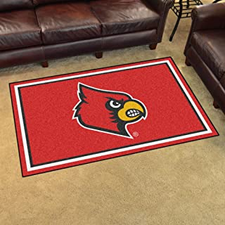 product image for Fan Mats 20202 University of Louisville Cardinals 4' x 6' Area Rug