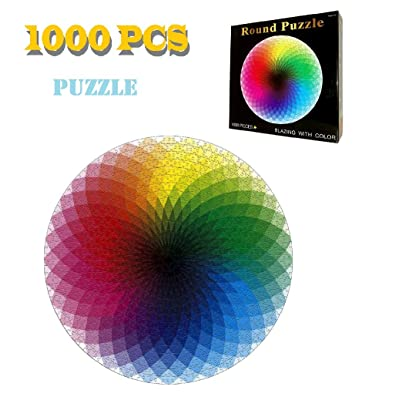 1000 pieces — Rainbow Palette Jigsaw Puzzle Intellectual game for adults and kids