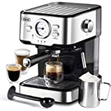 Espresso Machines 15 Bar Cappuccino Machine with Adjustable Milk Frother for Espresso, Latte and Mocha, 1.5L Removable Water