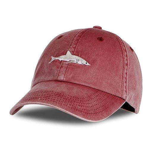 Yamed 100% Cotton Baseball Caps Men Hats Shark Embroidery Hat for Women Gorras Planas Snapback Bosco at Amazon Mens Clothing store: