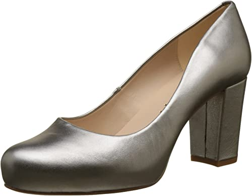 Closed Toe Heels, Gold (Steel Steel
