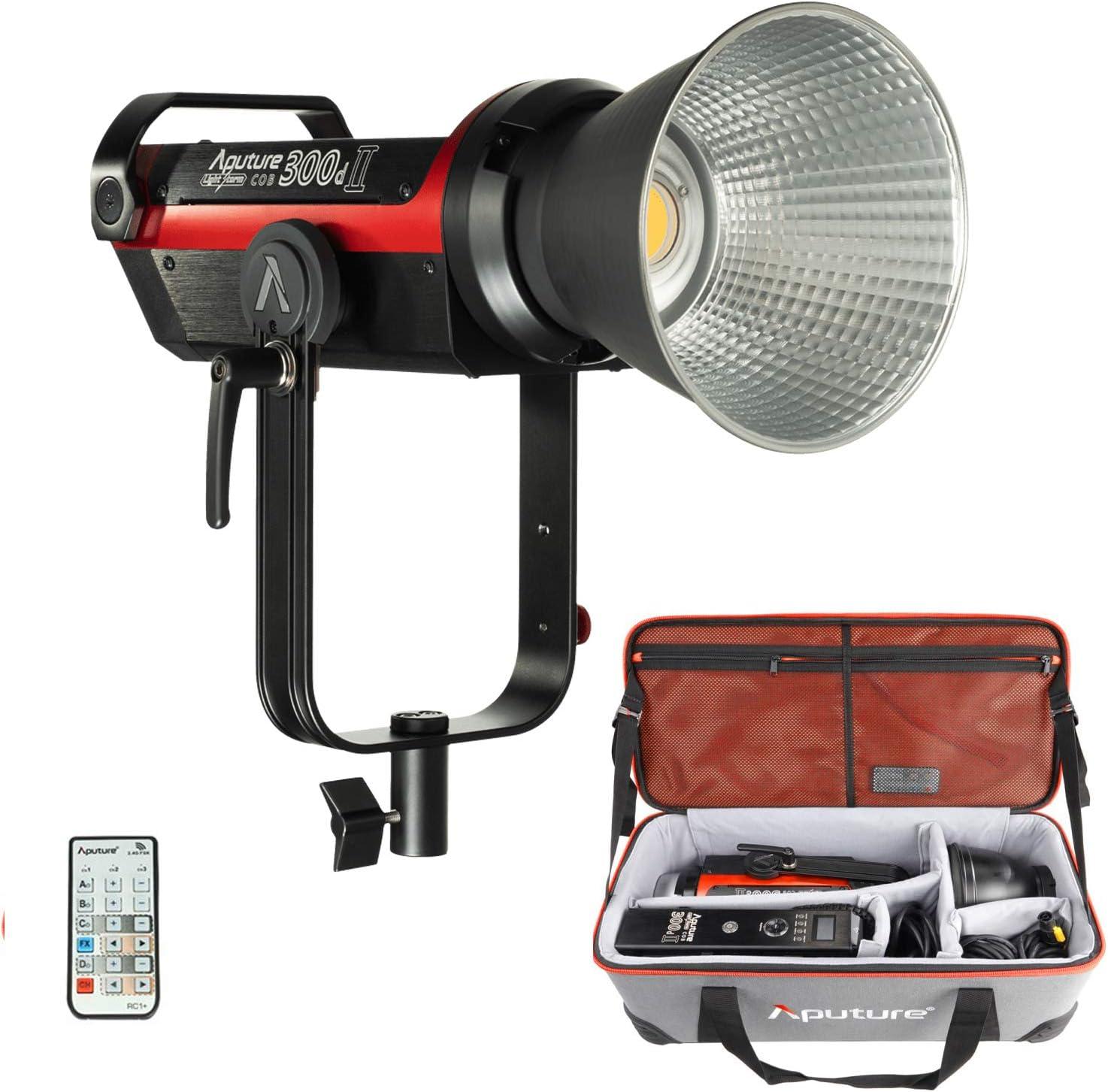 Amazon.com : Aputure LS C300D II COB Light Storm 300d Mark II 350W 5500K  Daylight Balanced Led Video Light CRI 96+ TLCI96+ 45000lux@0.5m with The  Reflector 8 Built-in Lighting FX Low V-Mount :